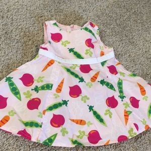 GYMBOREE 3-6 Month vegetable dress